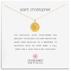 Dogeared St. Christopher Necklace, 16""