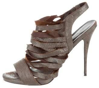 Elizabeth and James Multistrap Leather Sandals