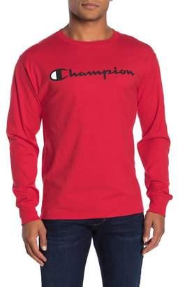 Champion Logo Print Long Sleeve T-Shirt