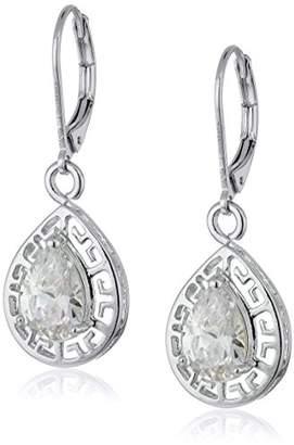 1928 Jewelry Silver-Tone Cubic Zirconia Filigree Teardrop Earrings