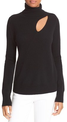 Women's A.l.c. Billy Cutout Wool & Cashmere Sweater $365 thestylecure.com