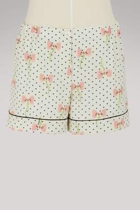 Miu Miu Pijama silk shorts