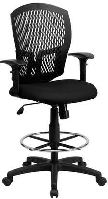 Flash Furniture Drafting Chair Arms: Included