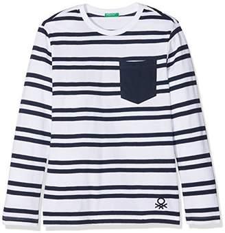 Benetton Boy's T-Shirt L/s T-Shirt,(Manufacturer Size: EL)