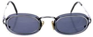 Christian Dior Vintage Palladium Oval Sunglasses