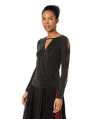 2ec9c051ab5 Amy Byer A. Byer Junior s Skinky Knit Dressy Wrap Top