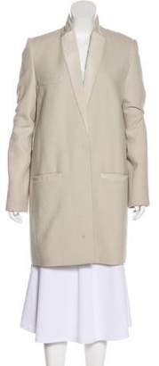 Isabel Marant Leather-Accented Knee-Length Coat
