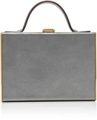 Mark Cross Rear Window Metallic Caviar Leather Case
