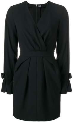Elisabetta Franchi fitted wrap front dress