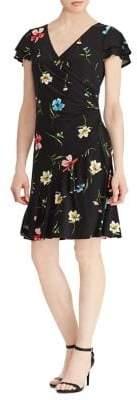 Lauren Ralph Lauren Jersey Surplice Fit-and-Flare Dress