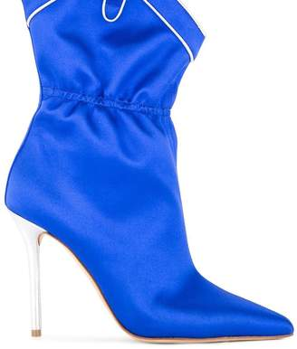 Malone Souliers satin ankle booties