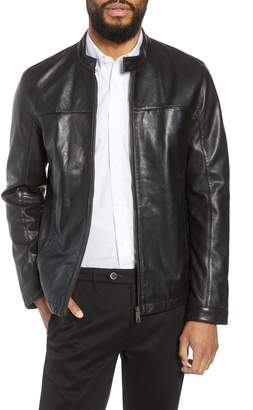 Ted Baker Ginga Trim Fit Leather Jacket