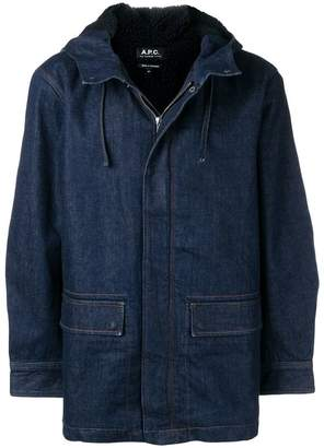 A.P.C. hooded denim jacket
