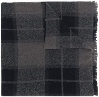 Rick Owens long checked scarf