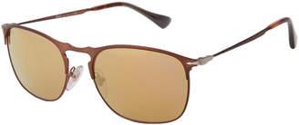 Persol PO7359 Bronze-Tone Square Sunglasses