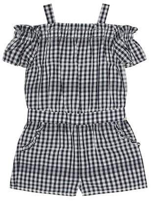 Tartine et Chocolat Gingham cotton playsuit