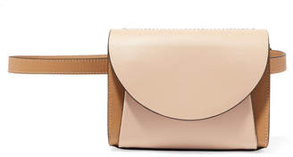 Marni Pochette Two-tone Textured-leather Belt Bag - Taupe