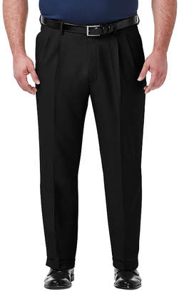 Haggar Premium Comfort Dress Classic Fit Pleated Pants Big and Tall
