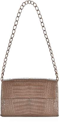 Nancy Gonzalez Small Crocodile Double Chain Shoulder Bag