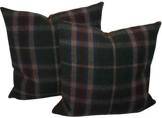 One Kings Lane Vintage Plaid Blanket Pillows - Set of 2 - Luis Rodriquez