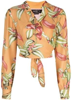 PatBO tie waist blouse