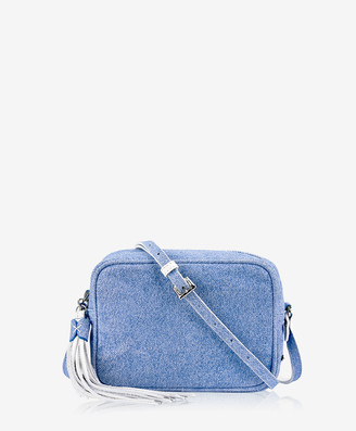 GiGi New York Madison Crossbody, Denim Italian Calfskin Leather