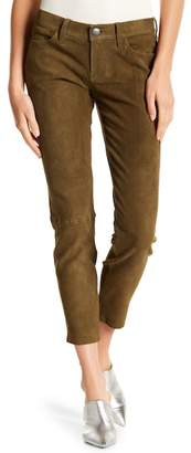 Current/Elliott Leather Easy Stiletto Cropped Pant