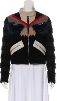Fendi Bug Eyes Shearling Jacket