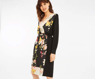 Oasis WOVEN FRONT WRAP DRESS
