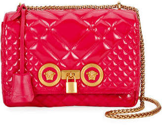 Versace Icon Quilted Patent Shoulder Bag
