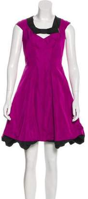 Louis Vuitton Knee-Length A-Line Dress Violet Knee-Length A-Line Dress
