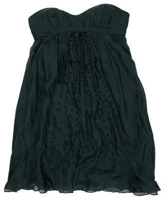 Haute Hippie Embellished Strapless Dress