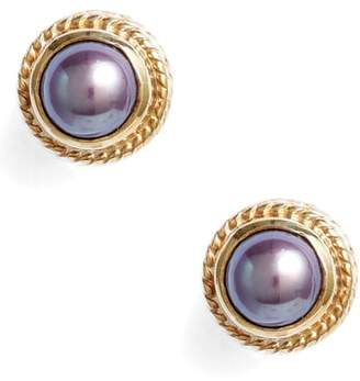 Anna Beck Genuine Blue Pearl Stud Earrings