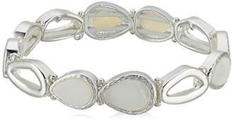 Nine West Women's Silver-Tone and Stretch Bracelet
