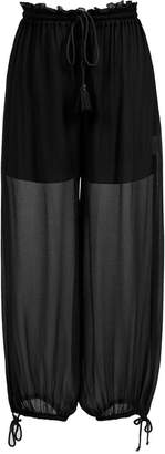 Nk silk cropped trousers