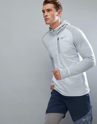 Nike Running Therma Spehere Element Hoodie In Grey 859222-043