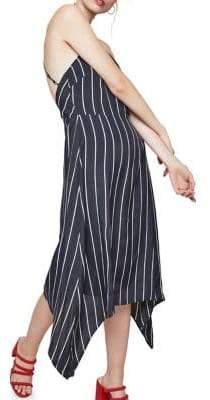 Miss Selfridge Striped Hanky Hem Dress