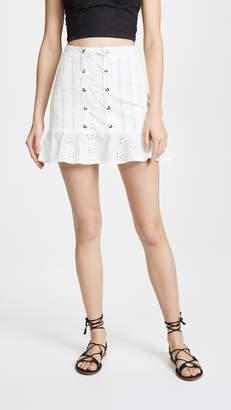For Love & Lemons Hermosa Eyelet Miniskirt