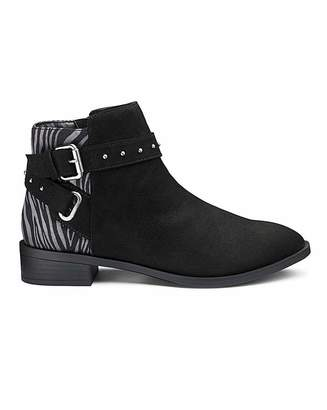 Rohde Eira Buckle Detail Boots Extra Wide Fit