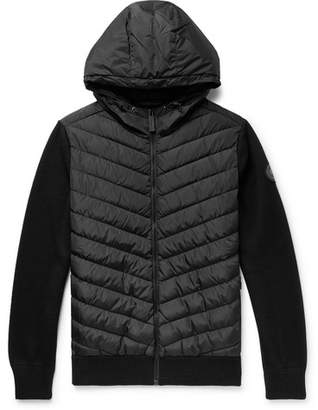 Canada Goose Hybridge Merino Wool And Quilted Shell Down Jacket Zip-Up Hoodie