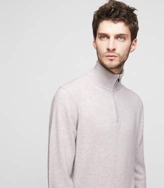 Reiss Tyne Zip-Neck Cashmere Jumper