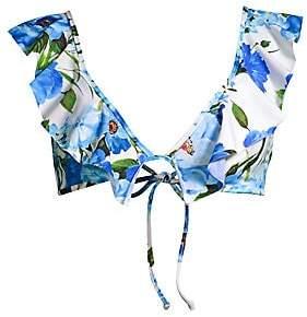 4d733d0b30 Ruffle Blue Bikini Top - ShopStyle