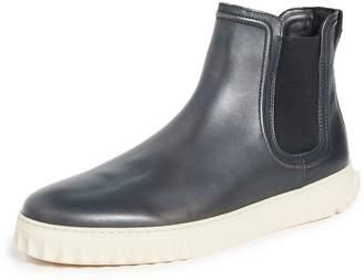 Salvatore Ferragamo Talos Leather Sneaker Boots