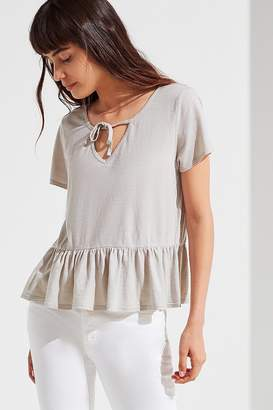 Truly Madly Deeply Tie-Front Babydoll Top