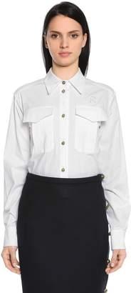 Rochas Logo Cotton Poplin Shirt