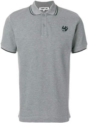 McQ contrast trim polo shirt
