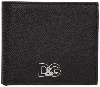 Dolce & Gabbana Black Grained Logo Wallet