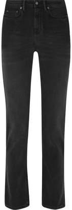 Acne Studios South Mid-rise Straight-leg Jeans - Black