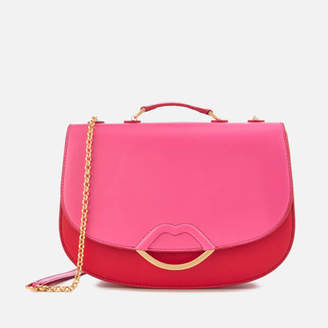 Lulu Guinness Women's Isabella Half Covered Lip Shoulder Bag - Peony