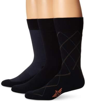 Dockers 3-Pack Ultimate Fit-Elevated Dress Bias Necktie Crew Socks, Shoe Size: 6-12 Size: 10-13